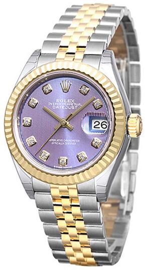 Rolex Lady-Datejust 28 Dameklokke 279173-0017 Lilla/18 karat gult - Rolex