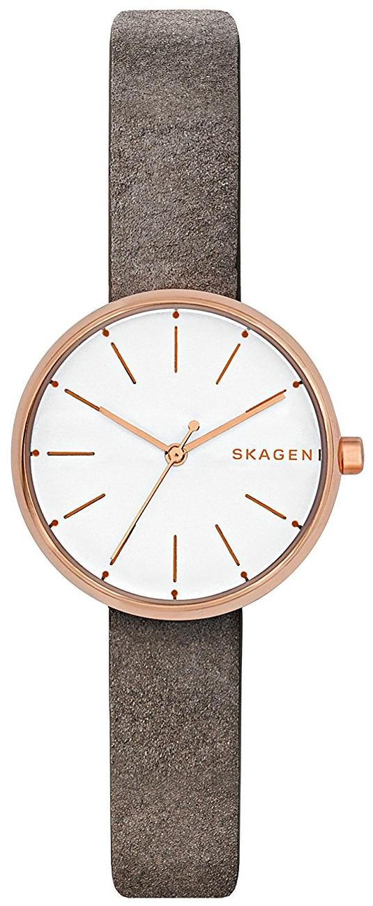 Skagen Signatur Dameklokke SKW2644 Hvit/Lær Ø30 mm - Skagen