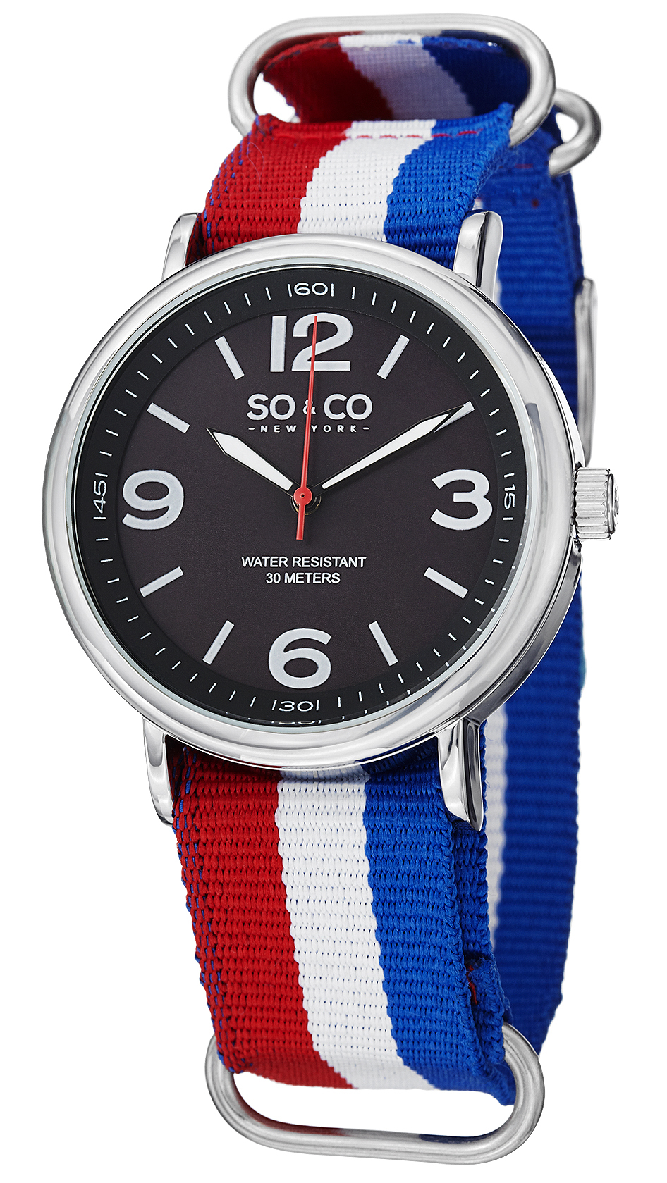 So & Co New York SoHo Herreklokke 5002.3 Sort/Stål Ø40 mm - So & Co New York