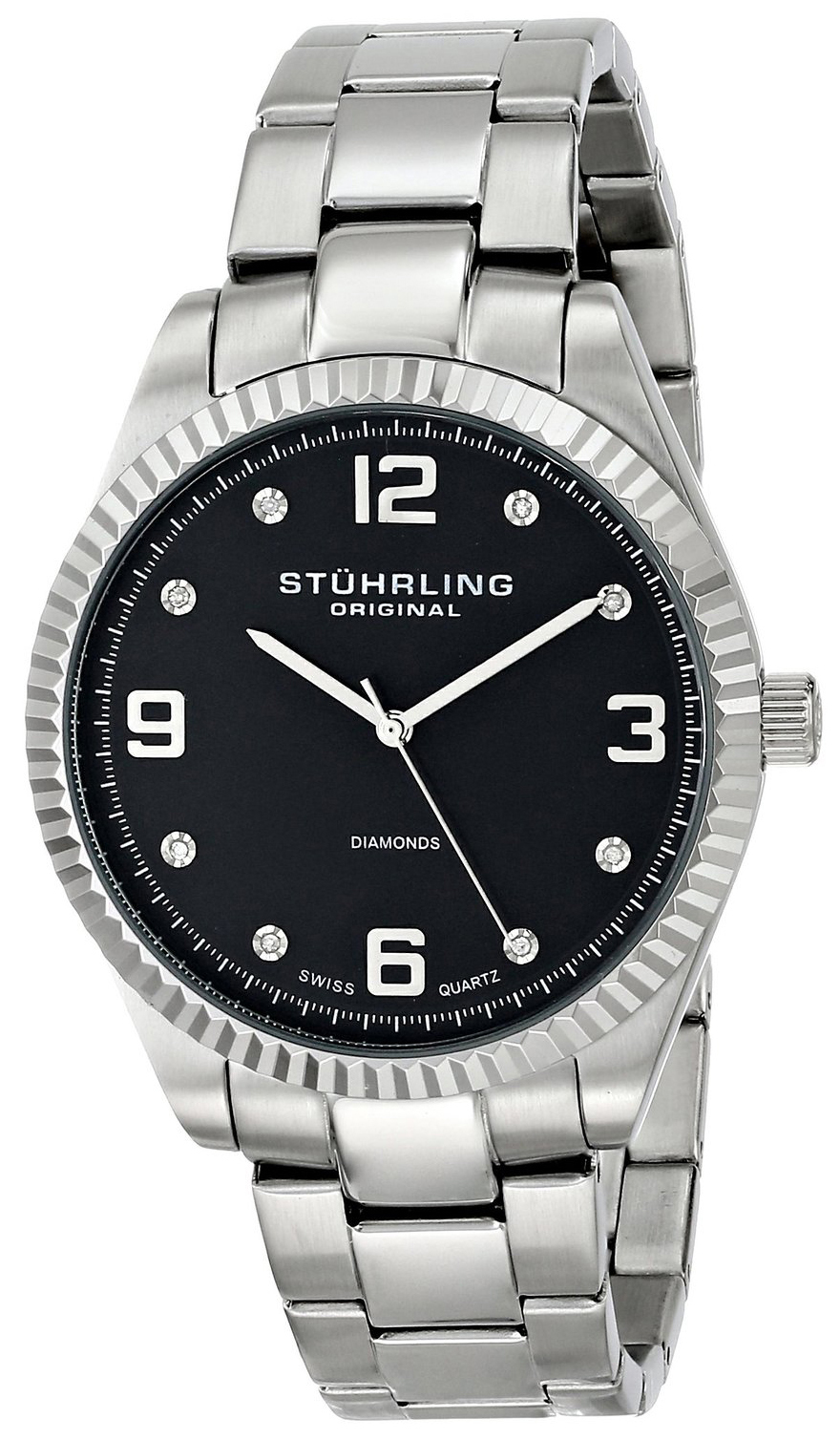 Stührling Original Classic Allure Herreklokke 607G.02 Sort/Stål - Stührling Original