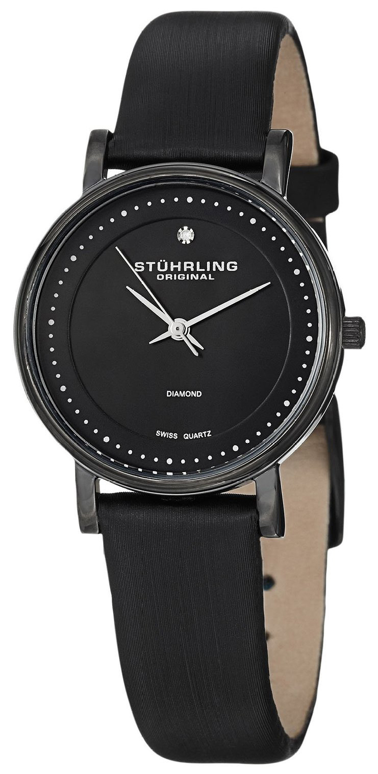 Stührling Original Dameklokke 734L.03 Sort/Lær Ø29 mm - Stührling Original