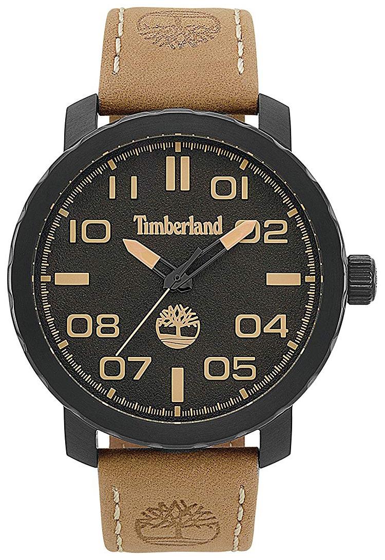 Timberland Wellesley Herreklokke 15377JSB/02 Sort/Lær Ø50 mm - Timberland