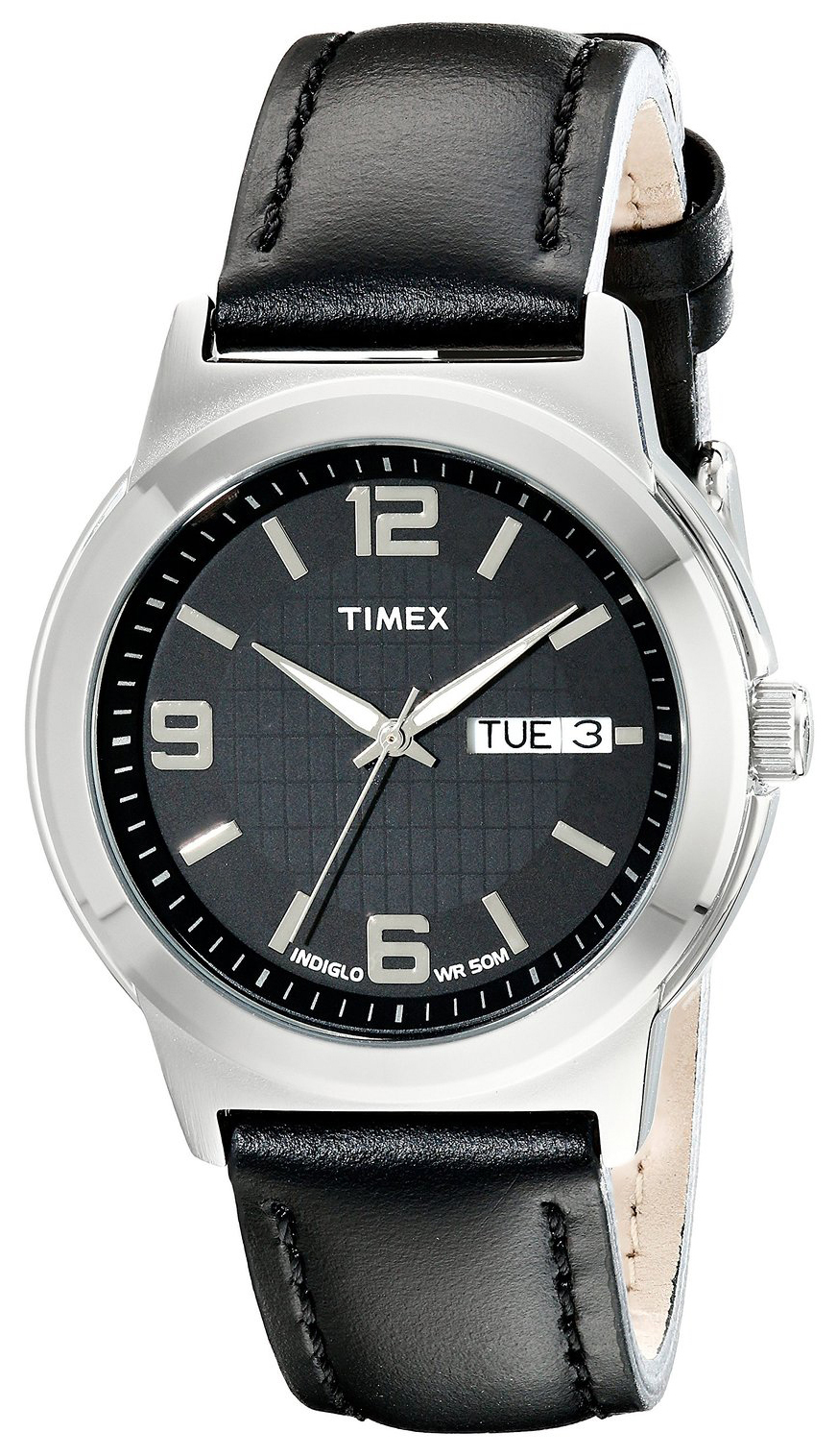 Timex Classic Elevated Herreklokke T2E561 Sort/Lær Ø40 mm - Timex