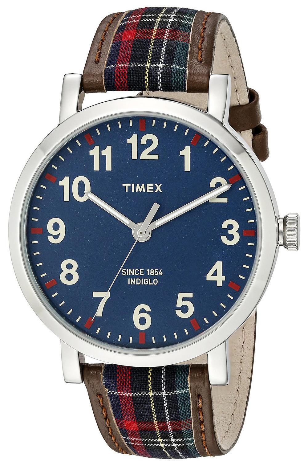Timex 99999 TW2P69500AB Blå/Lær Ø42 mm - Timex