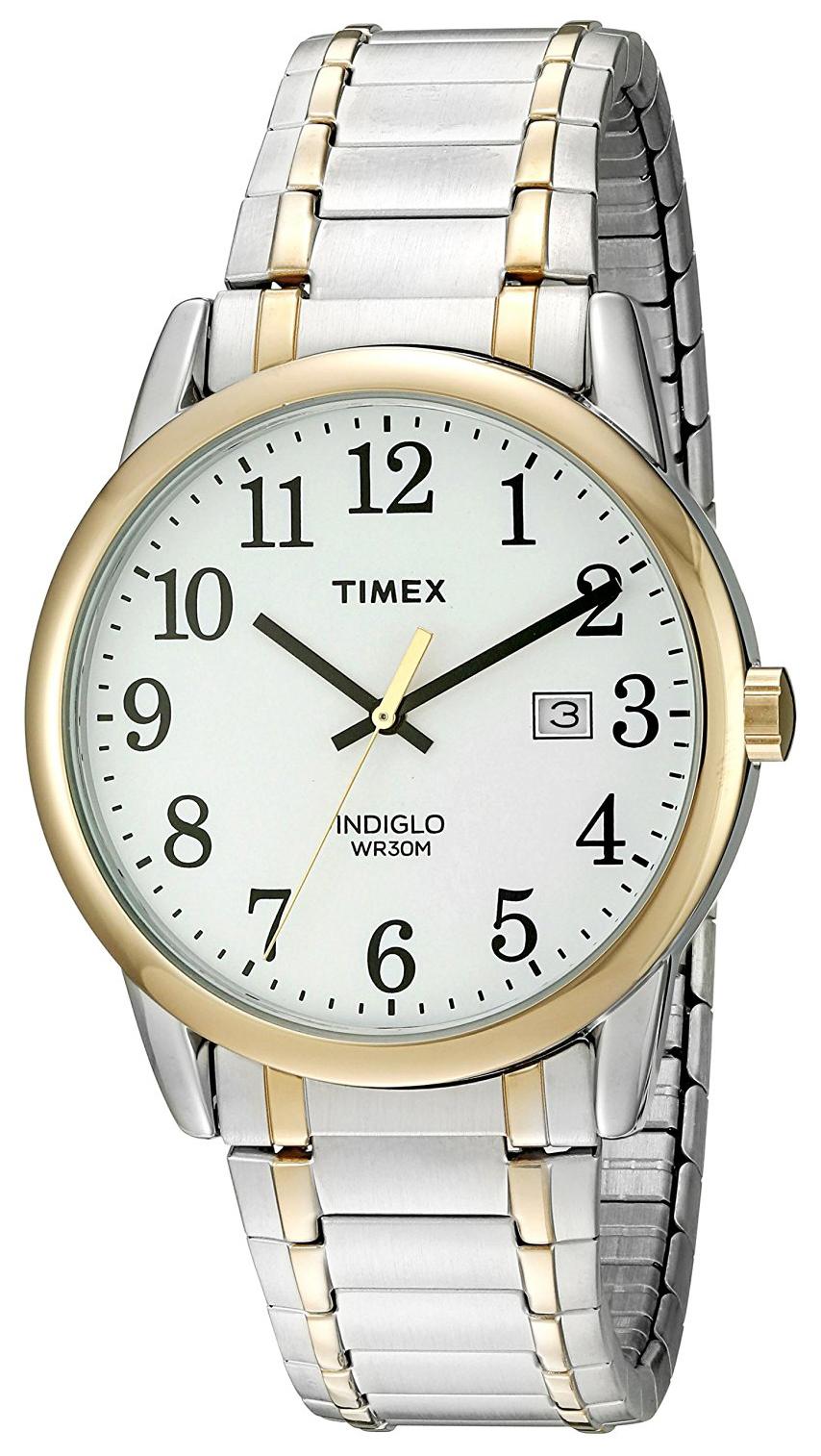 Timex Easy Reader Herreklokke TW2P814009J Hvit/Gulltonet stål Ø38 mm - Timex