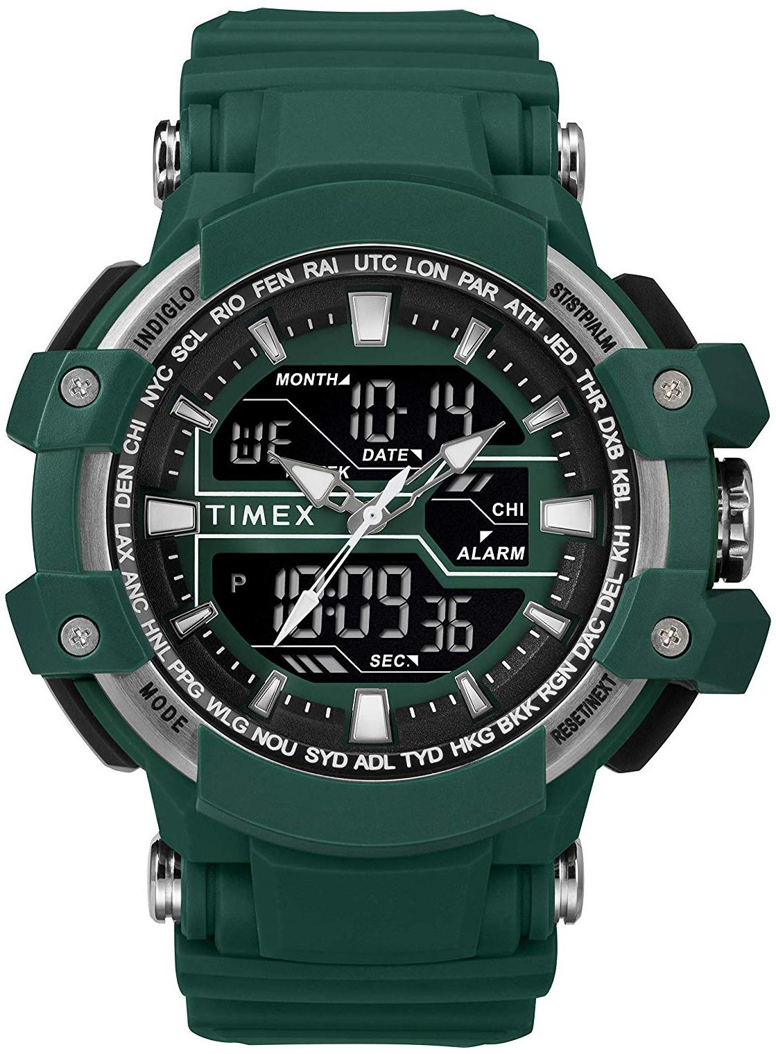 Timex Marathon Herreklokke TW5M22800 LCD/Resinplast Ø50 mm - Timex