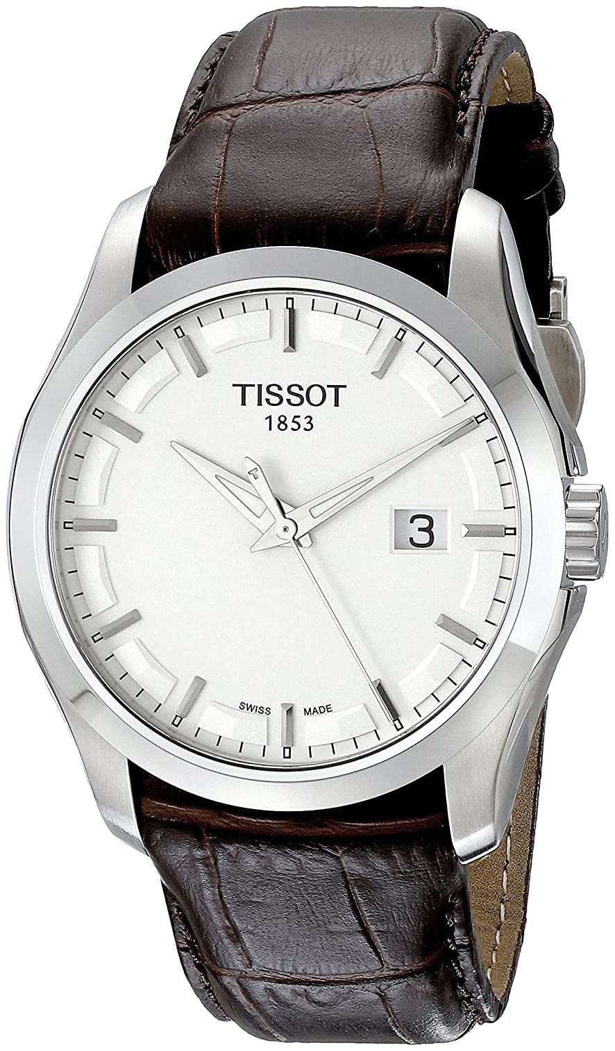 Tissot Herreklokke T035.410.16.031.00 Sølvfarget/Lær Ø39 mm - Tissot