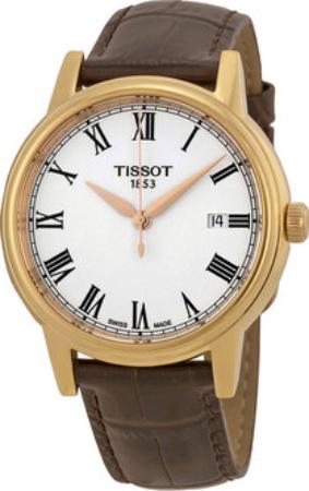 Tissot Herreklokke T085.410.36.013.00 Hvit/Lær Ø40 mm - Tissot