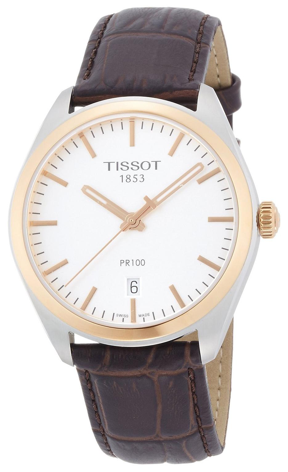 Tissot PR 100 Gent Herreklokke T101.410.26.031.00 Sølvfarget/Lær - Tissot