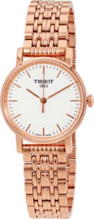 Tissot T-Classic Dameklokke T109.210.33.031.00 Hvit/Rose-gulltonet - Tissot
