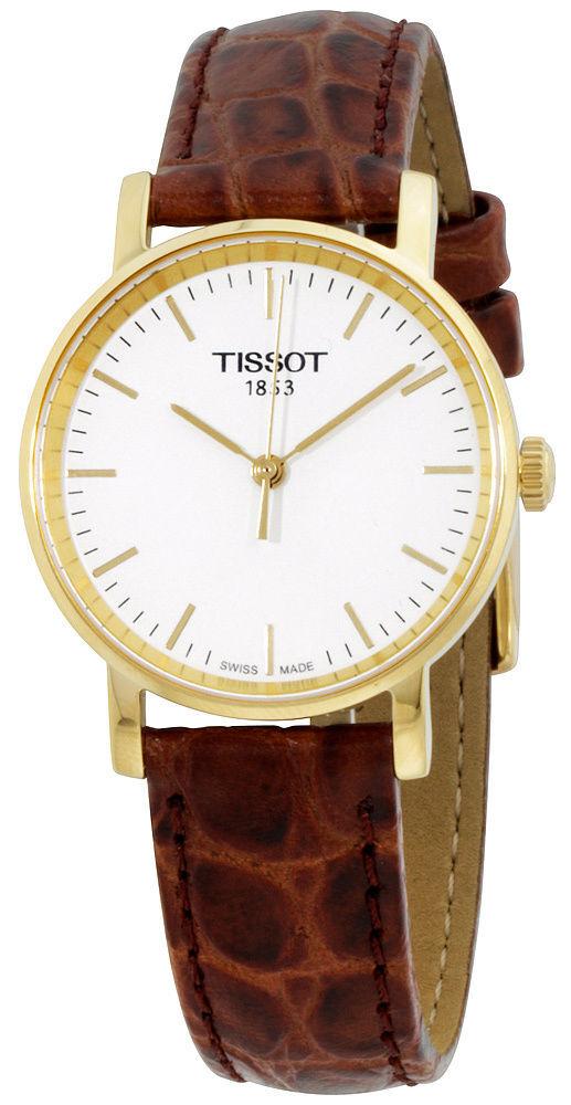 Tissot T-Classic Dameklokke T109.210.36.031.00 Hvit/Lær Ø30 mm - Tissot
