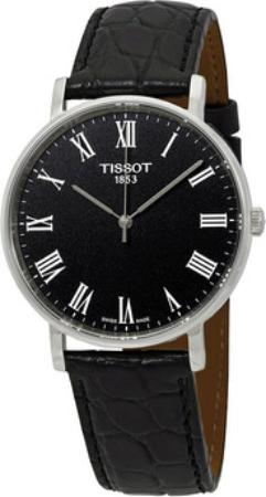 Tissot T-Classic Herreklokke T109.410.16.053.00 Sort/Lær Ø38 mm - Tissot