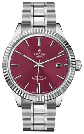 Tudor Style Herreklokke 12510-0015 Rød/Stål Ø38 mm - Tudor