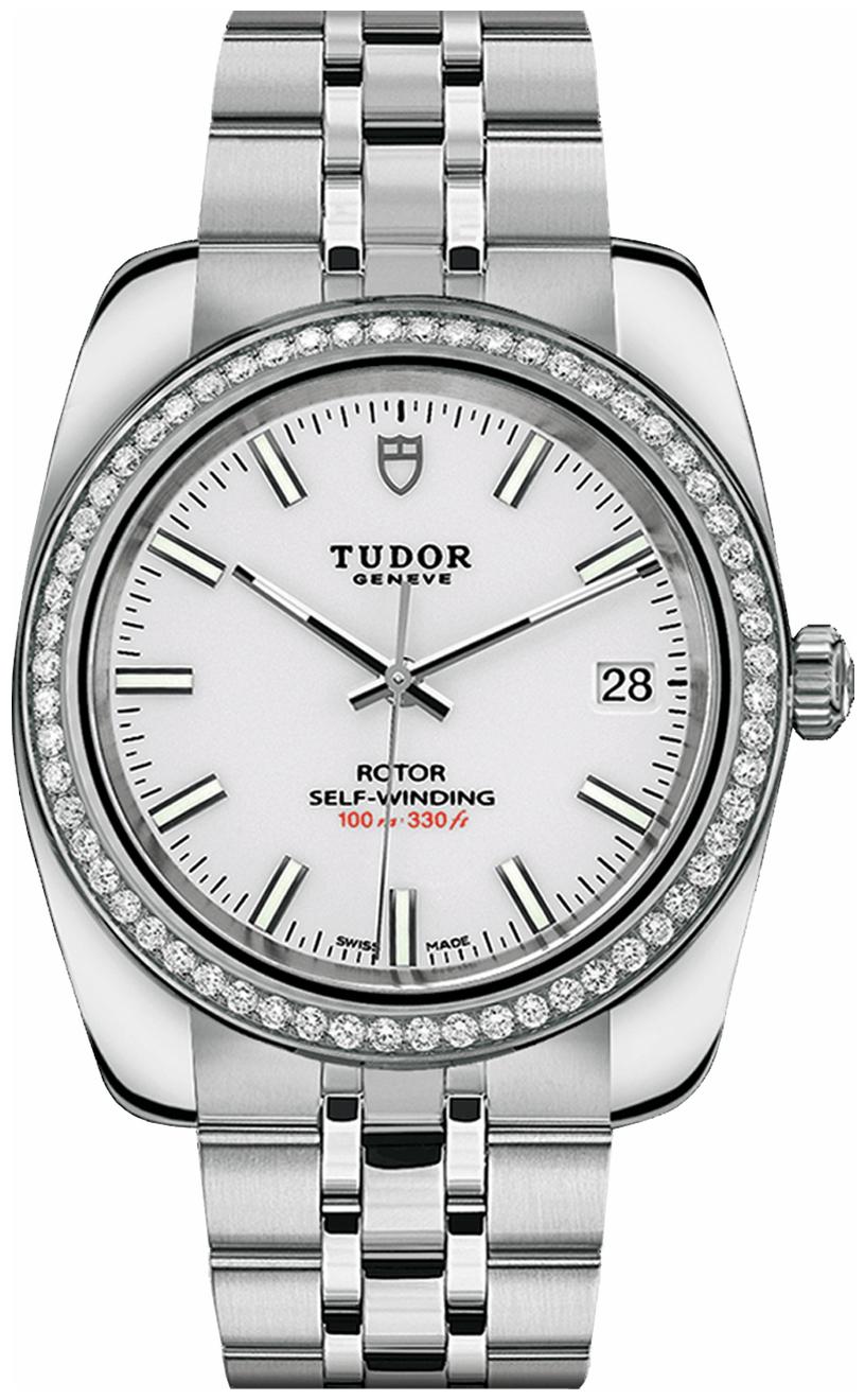 Tudor Classic Date Herreklokke 21020-0010 Hvit/Stål Ø38 mm - Tudor