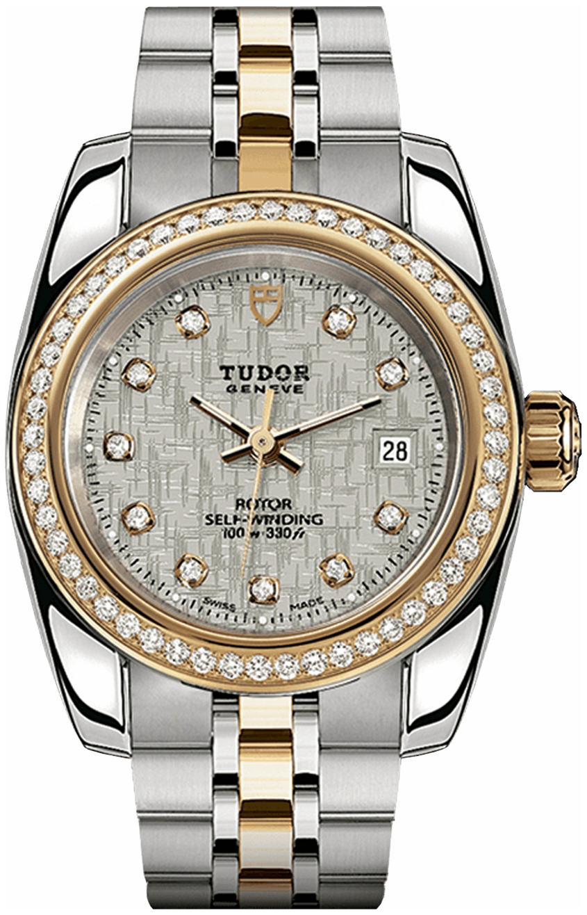Tudor Classic Date Dameklokke 22023-0004 Sølvfarget/18 karat gult - Tudor