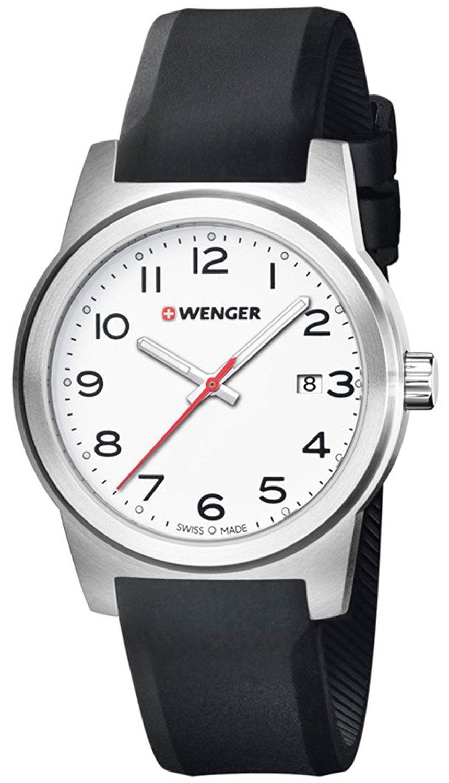 Wenger 99999 Herreklokke 01.0441.148 Hvit/Gummi Ø41 mm - Wenger