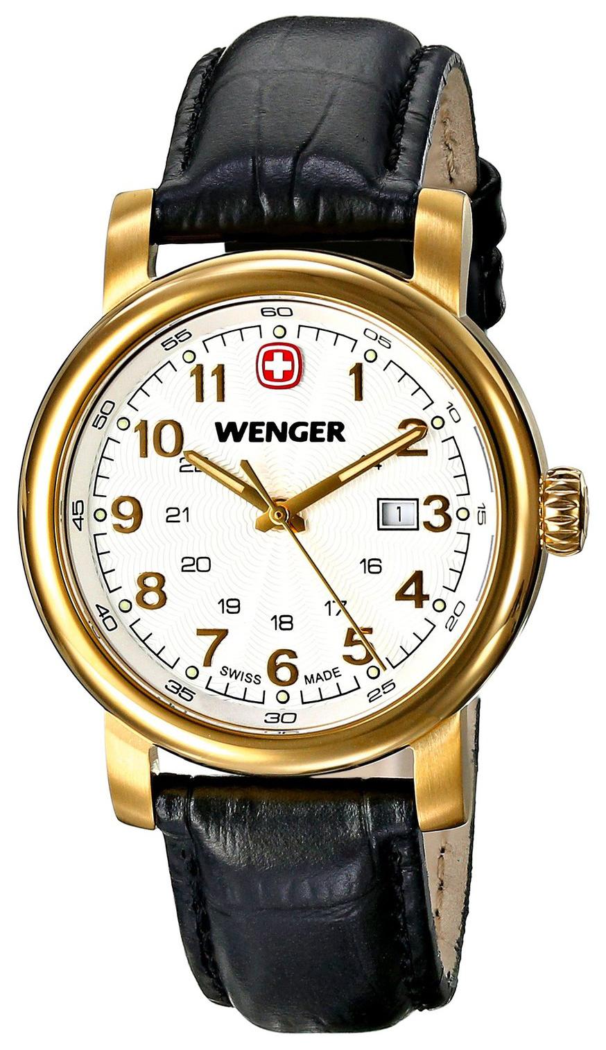 Wenger Urban Classic Dameklokke 01.1021.109 Hvit/Lær Ø34 mm - Wenger