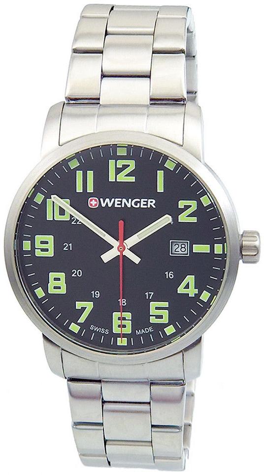 Wenger 99999 Herreklokke 01.1641.111 Sort/Stål Ø42 mm - Wenger