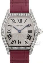 Cartier Tortue Sølvfarget/Lær