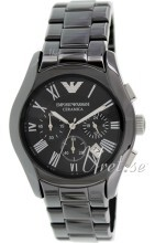 Emporio Armani Dress Sort/Keramik Ø42 mm