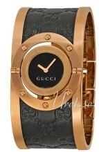 Gucci Twirl Sort/Rose-gulltonet stål Ø23.5 mm