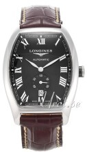 Longines Evidenza Sort/Lær Ø33.1 mm