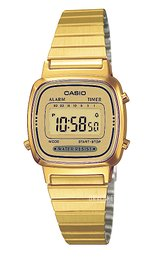Casio Casio Collection Gulltonet stål 30.3x24.6 mm LA670WEGA-9EF