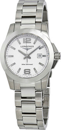 Longines Conquest Ladies Hvit/Stål Ø29.5 mm L3.277.4.16.6