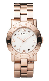 Marc by Marc Jacobs Amy Hvit/Rose-gulltonet stål Ø36 mm MBM3077