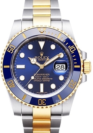 Rolex Submariner Blå/18 karat gult gull Ø40 mm 116613LB-0005