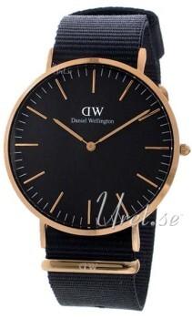 Daniel Wellington Classic Black Cornwall Sort/Tekstil Ø40 mm