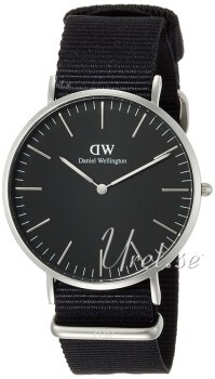 Daniel Wellington Classic Black Cornwall Sort/Tekstil Ø40 mm