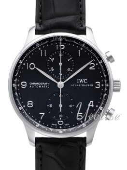 IWC Portuguese Sort/Lær Ø40.9 mm